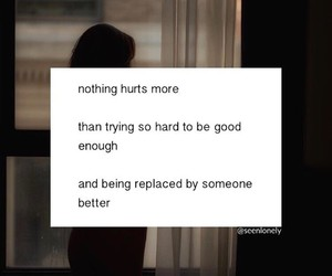hurt, replaced, and quote image