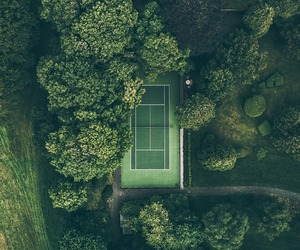 aerial photography and green image