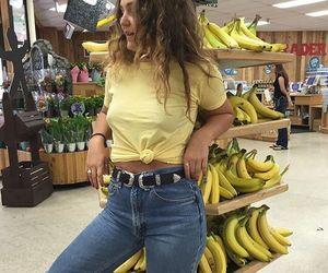 yellow, banana, and fashion image