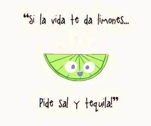 tequila, frases, and lemon image