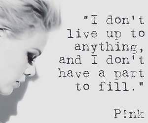 anything, black and white, and P!nk image