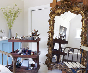 home decor, boho chic, and floor mirror image