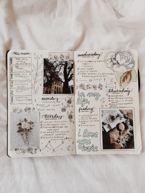 journal, bullet journal, and art image