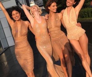 dress, nude look, and fashion image
