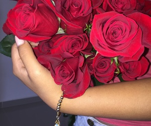 bracelet, pretty, and red image