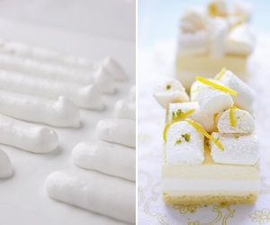 dessert, lemon, and merengue image