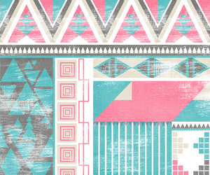 pink, wallpaper, and aztec image