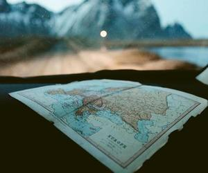 explore, map, and mountains image