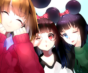 anime, kawaii, and friends image