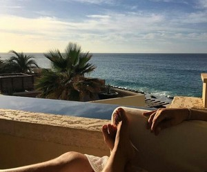 balcony, relax, and beach image