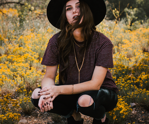 black boots, black hat, and fashion image