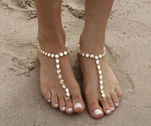 jewelry, anklet, and beach weddings image