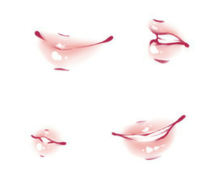 drawing, lips, and pink image
