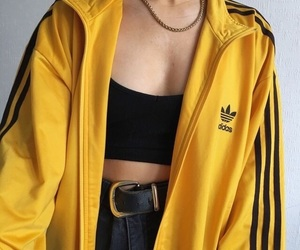 adidas, fashion, and yellow image