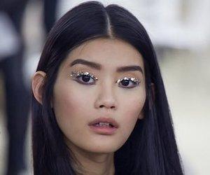 model, fashion, and glitter image