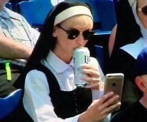 meme, funny, and nun image
