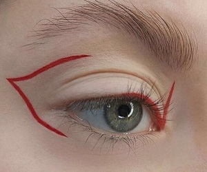 aesthetic, eyeliner, and red image