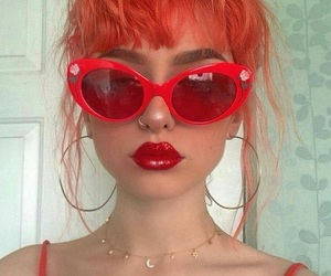 red, girl, and aesthetic image