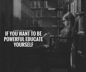 quotes, yourself, and education image