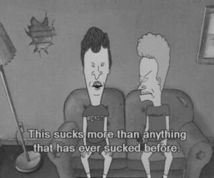 sucks, beavis and butthead, and cartoon image
