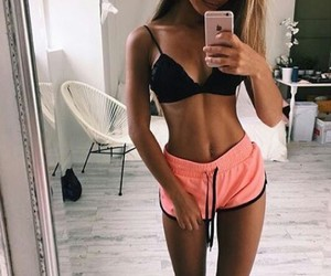 abs, body, and girls image