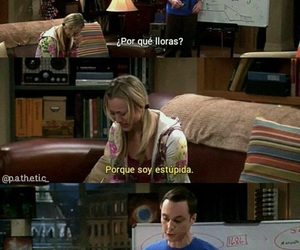 sheldon, penny, and stupid image