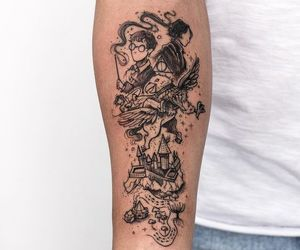 harry potter, harry potter tattoo, and tattoo image