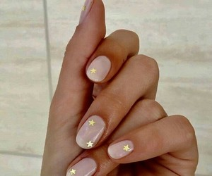 nails, stars, and nail polish image