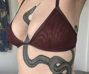 tattoo, snake, and art image