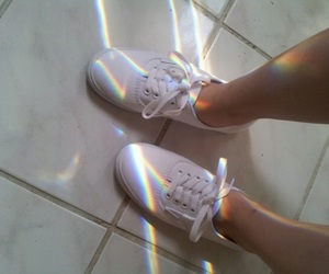 shoes, rainbow, and grunge image
