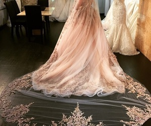 dress, fashion, and wedding image