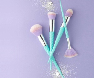 makeup, pastel, and blue image