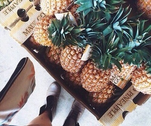 ananas, food, and fruit image