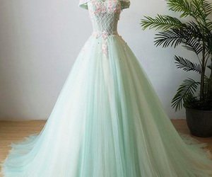 dress, prom dress, and wedding image