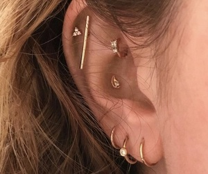 brown hair, conch, and helix image