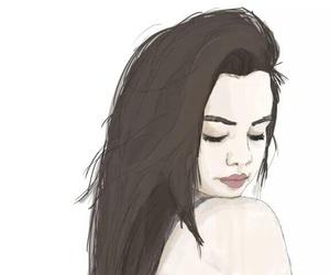 selena gomez, art, and drawing image