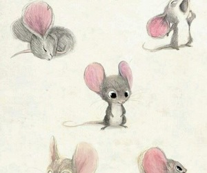 mouse, cute, and art image