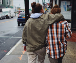couple, love wins, and flannel image