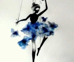 art, dance, and blue image