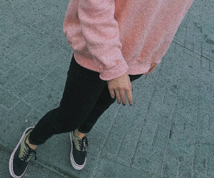 black, pink, and clothes image