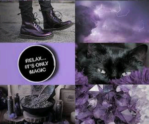 aesthetics, purple and black, and roxo e preto image