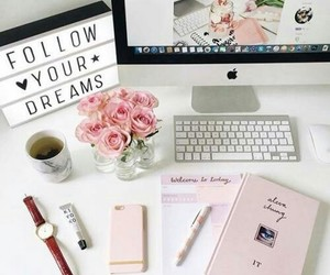 pink, Dream, and school image