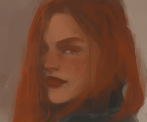 ginny weasley, harry potter, and portrait image
