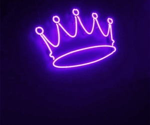 crown, neon, and Queen image