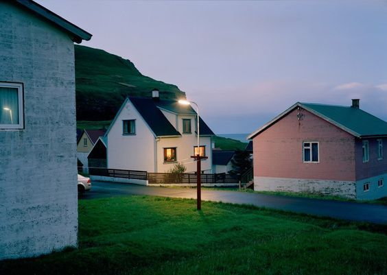 house, street, and light image