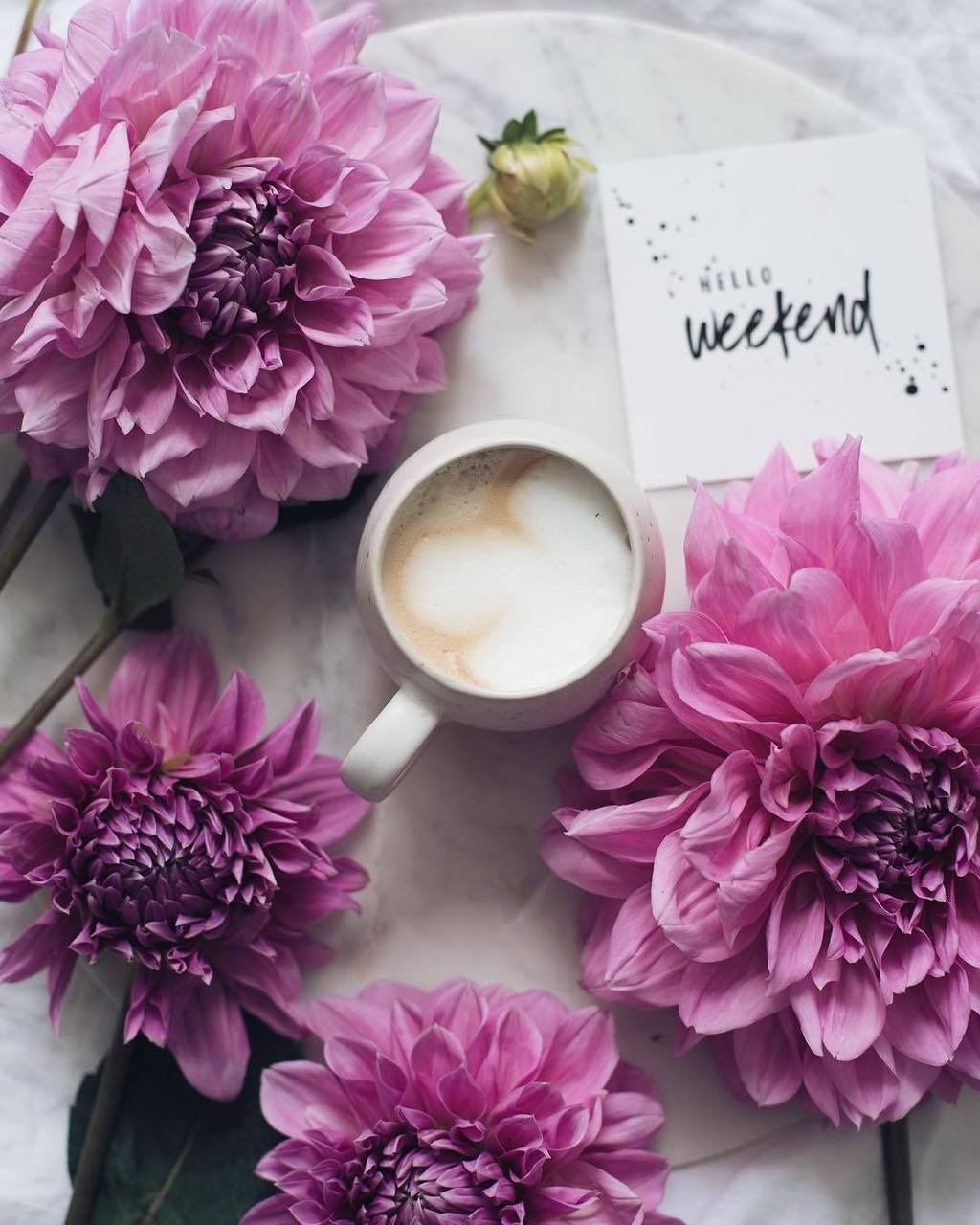coffee, flowers, and weekend image