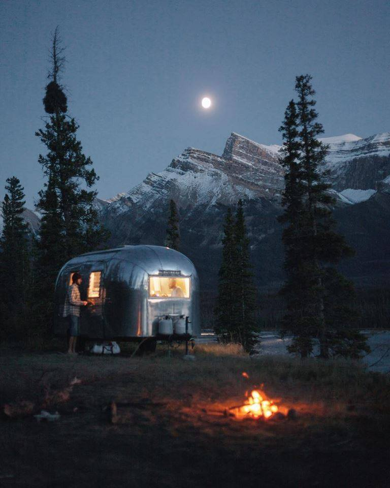 camping and night image