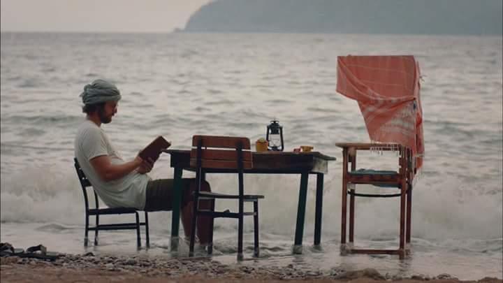 book, alone, and sea image