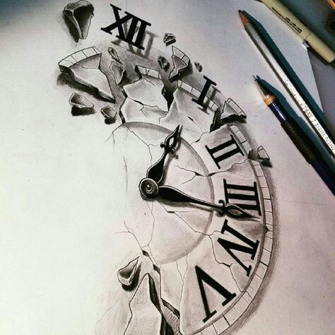 art, drawing, and time image