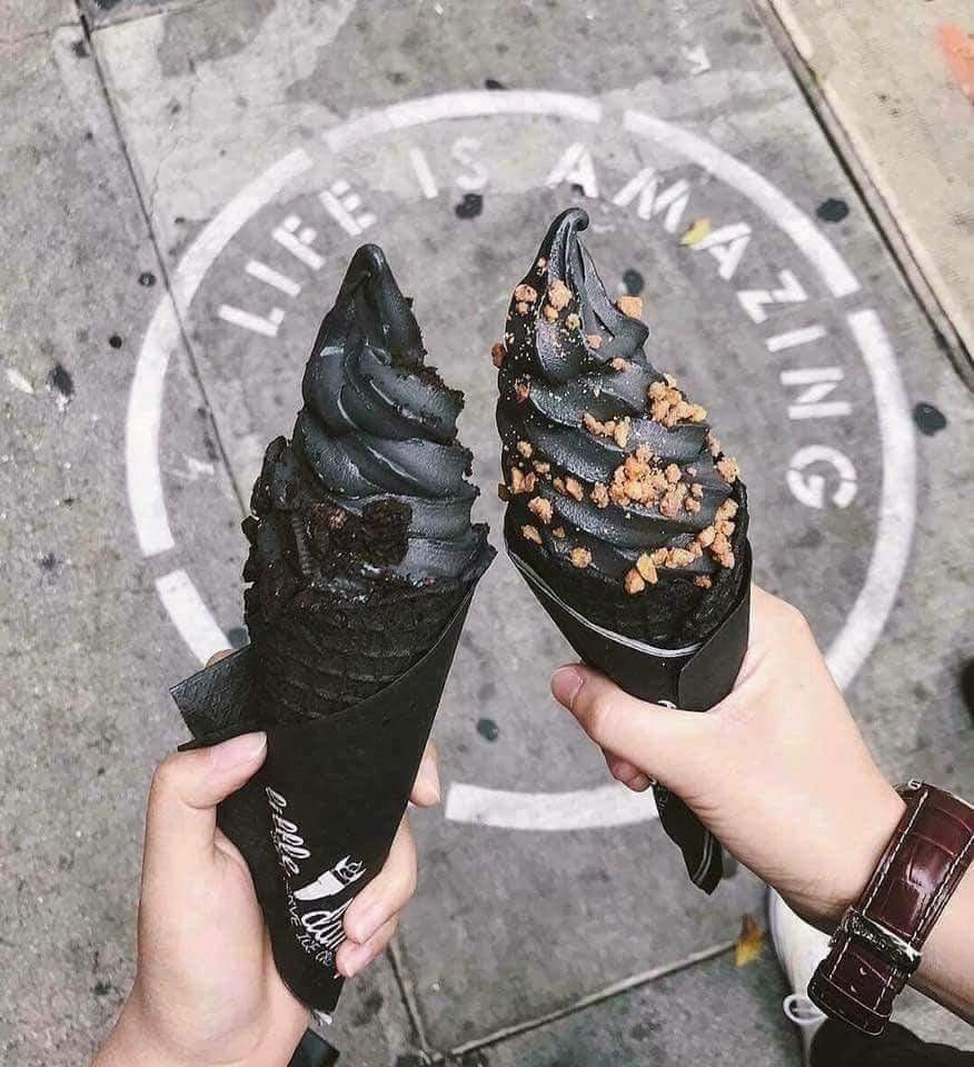 black, food, and ice cream image